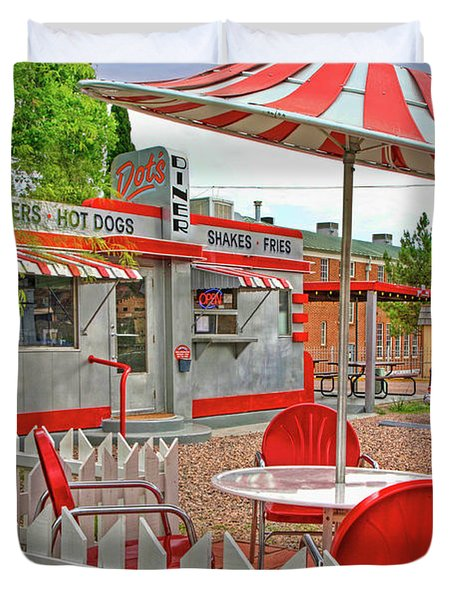 Dot's Diner In Bisbee Arizona Duvet Cover