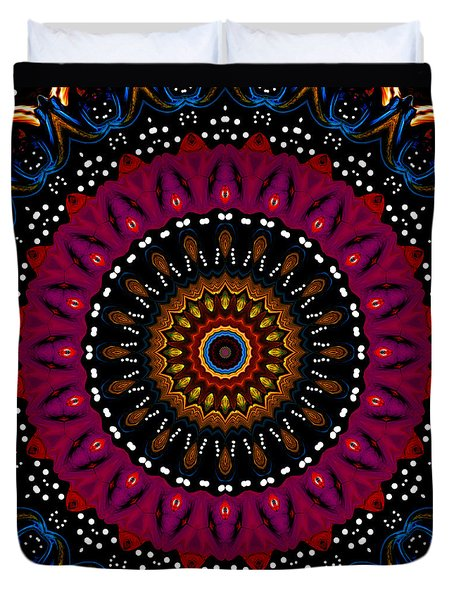Dotted Wishes No. 5 Kaleidoscope Duvet Cover by Joy McKenzie