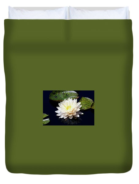 Dotty White Lotus And Lily Pads 0030 Dlw_h_2 Duvet Cover