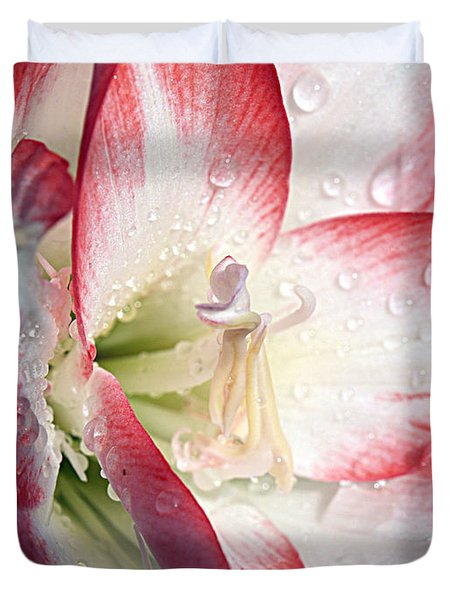 Double Amaryllis Duvet Cover
