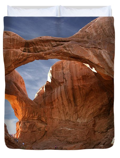 Double Arch In Late Afternoon Duvet Cover by Mike McGlothlen