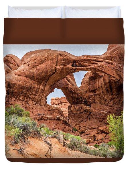 Double Arches, Arches National Park Duvet Cover