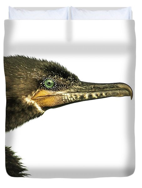 Duvet Cover featuring the photograph Double-crested Cormorant  by Robert Frederick