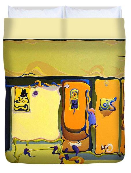 Double Door Power Play Duvet Cover