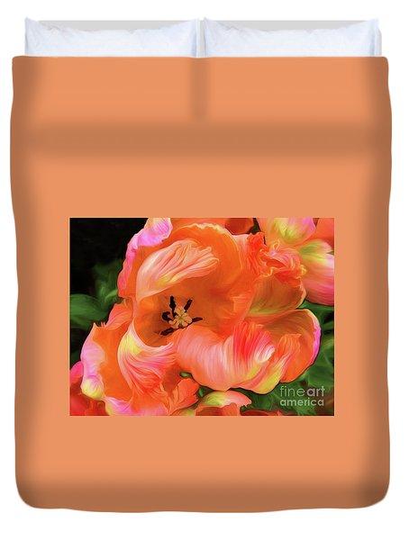 Double Dutch Tulips Duvet Cover