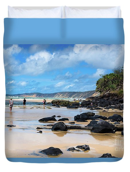 Double Island Point  Duvet Cover