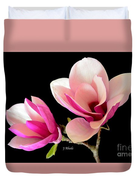 Double Magnolia Blooms Duvet Cover