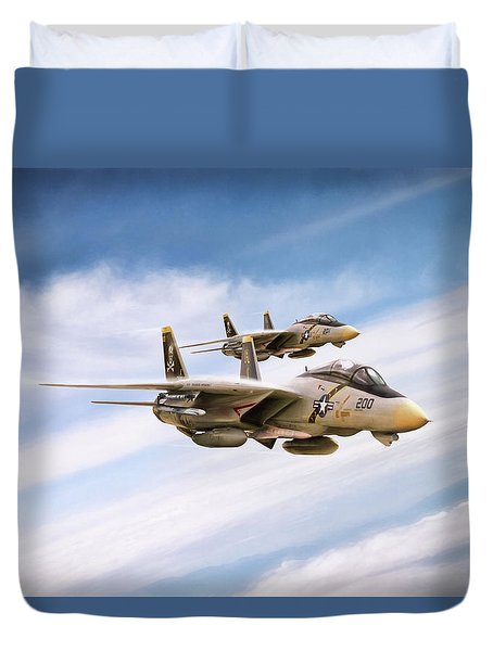 Duvet Cover featuring the digital art Double Nuts by Peter Chilelli