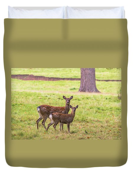 Duvet Cover featuring the photograph Double Take by Scott Carruthers