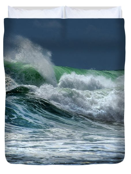 Double Wave Duvet Cover by Frank Wilson