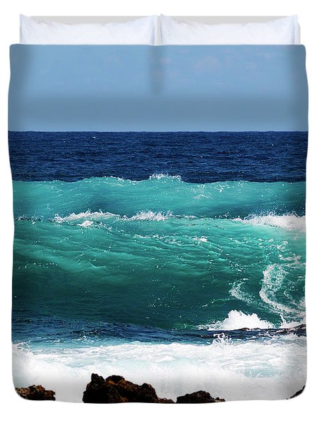 Double Waves Duvet Cover