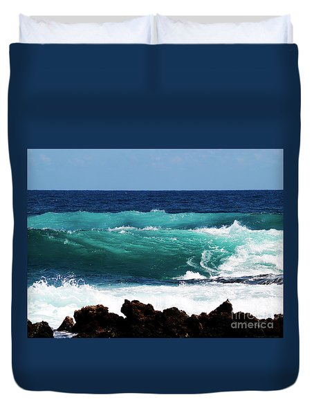 Double Waves Duvet Cover