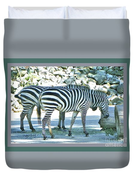 Double Zebra Duvet Cover