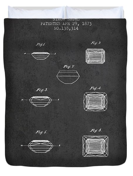 Doublet Stone Patent From 1873 - Charcoal Duvet Cover