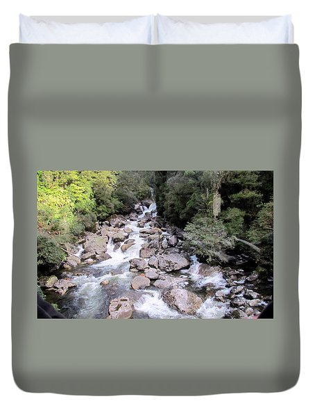 Doubtful Sound Duvet Cover by Joyce Woodhouse
