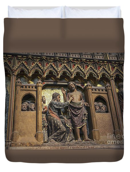 Doubting Thomas Scene Duvet Cover by Patricia Hofmeester