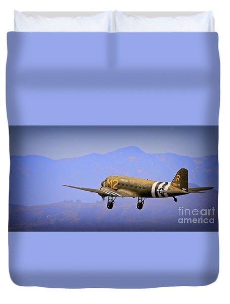 Douglas C-47 Invasion Blues Duvet Cover