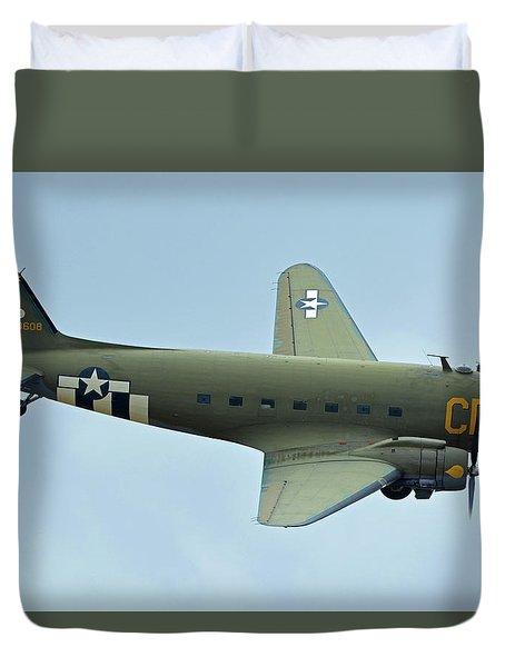Douglas C-47b Dakota N47sj Betsy's Biscuit Bomber Chino California April 30 2016 Duvet Cover by Brian Lockett