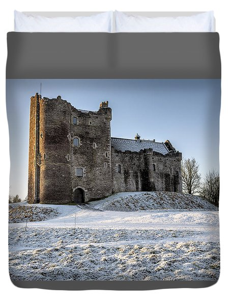 Doune Castle In Central Scotland Duvet Cover