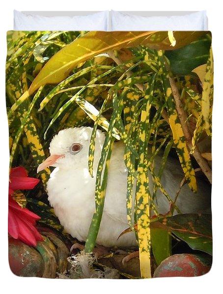 Dove In Jamaica Duvet Cover