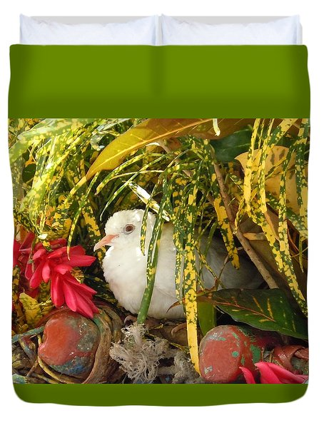 Dove In Jamaica Duvet Cover