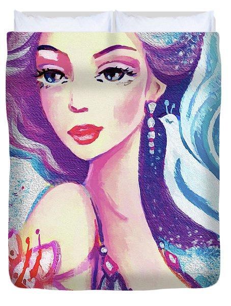 Dove Mermaid Duvet Cover