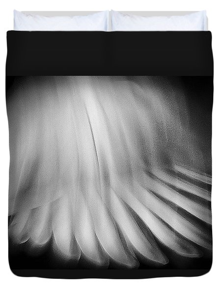 Dove Wings In Flight Duvet Cover