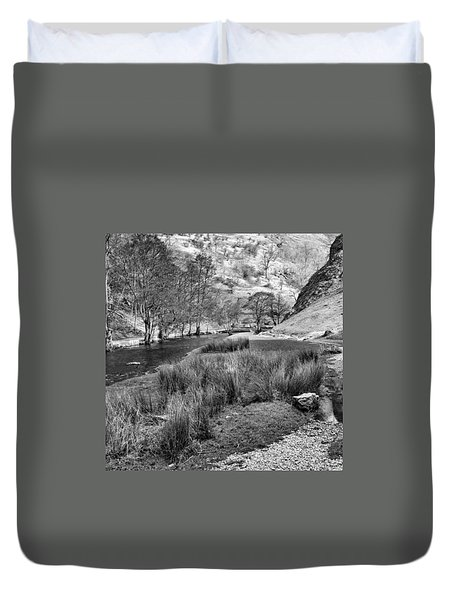 Dovedale, Peak District Uk Duvet Cover by John Edwards