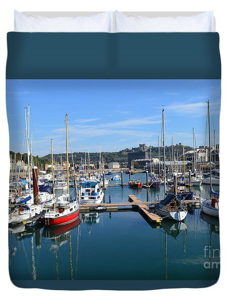 Dover Marina Uk Duvet Cover