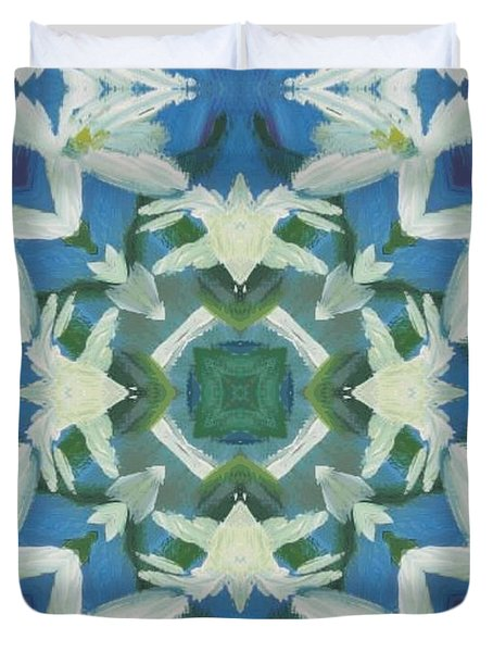 Doves Of Peace Duvet Cover by Maria Watt