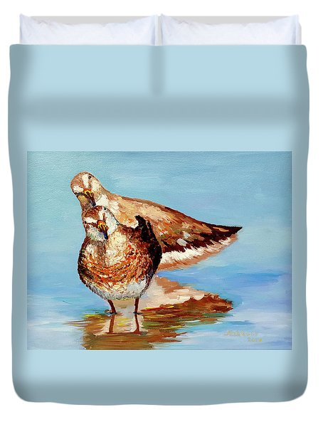 Dowitcher Birds Duvet Cover