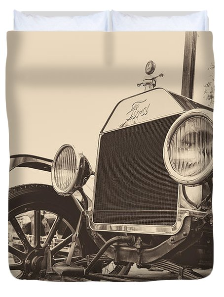Duvet Cover featuring the photograph Down A Dusty Road by Caitlyn  Grasso