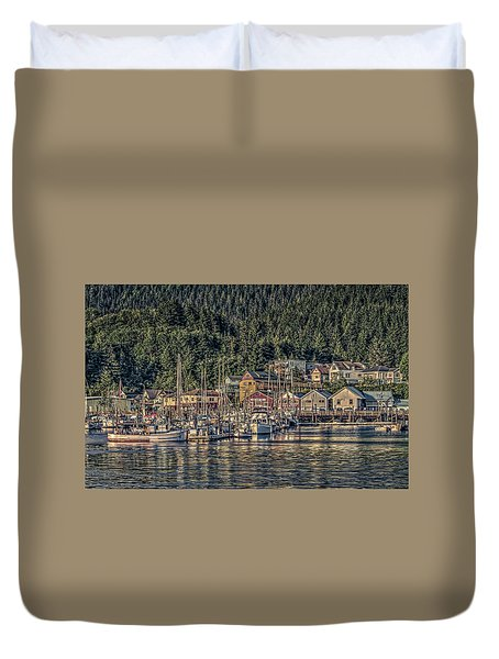 Down At The Basin Duvet Cover by Timothy Latta