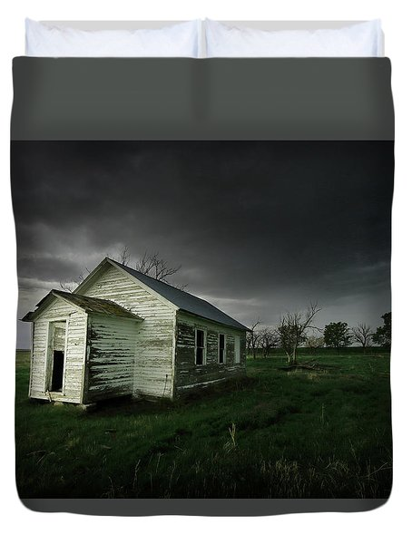 Down At The Schoolyard Duvet Cover