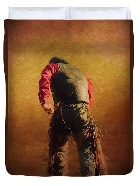 Down But Not Out Duvet Cover by Jim  Hatch