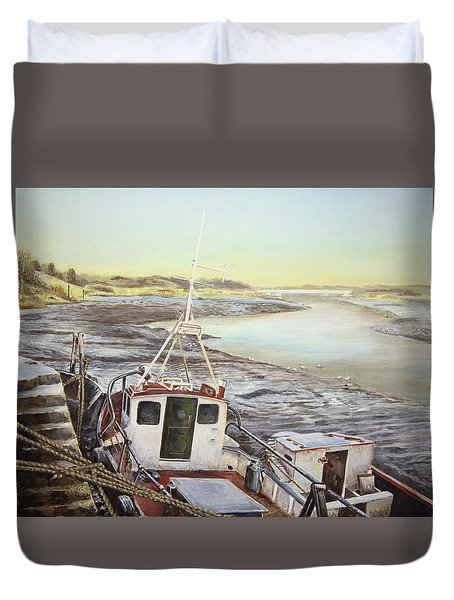 Down By The Docks Duvet Cover