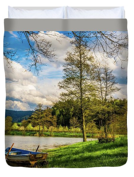 Down By The Lake  Duvet Cover by David Dehner