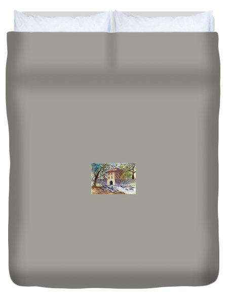 Down By The Old Mill Stream Duvet Cover