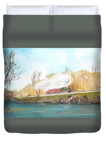Down By The River Side Duvet Cover