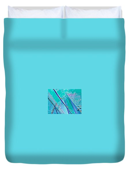 Down By The Water Duvet Cover