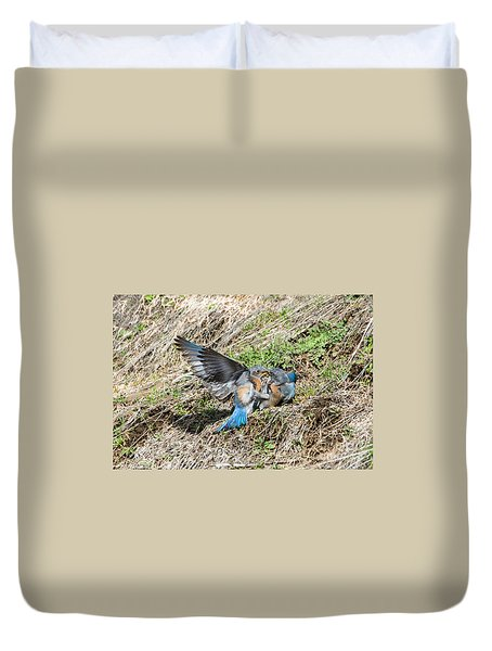 Duvet Cover featuring the photograph Down For The Count by Mike Dawson