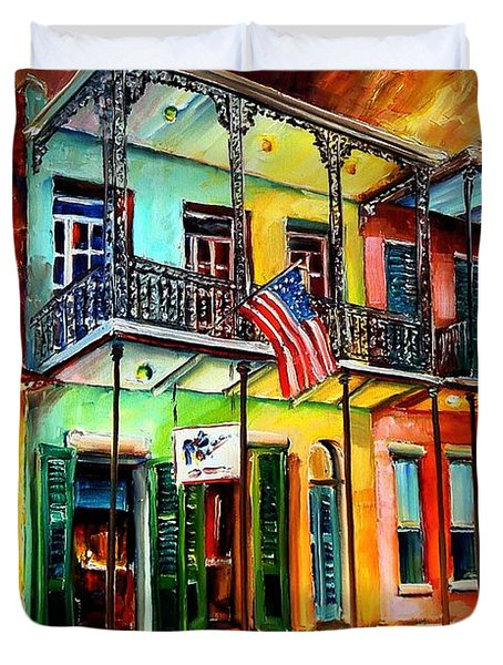 Down On Bourbon Street Duvet Cover by Diane Millsap