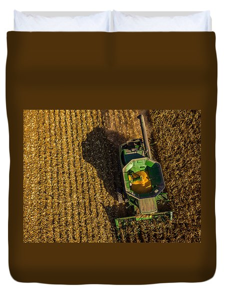 Down On The Combine Duvet Cover