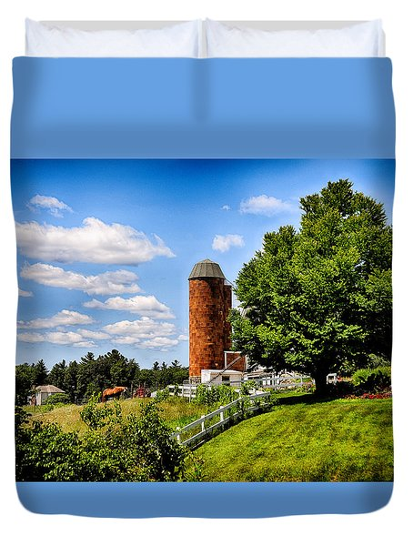 Down On The Farm Duvet Cover by Tricia Marchlik