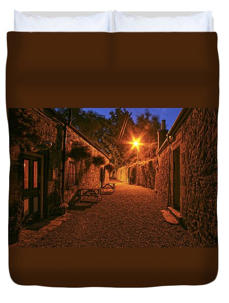 Down The Alley Duvet Cover
