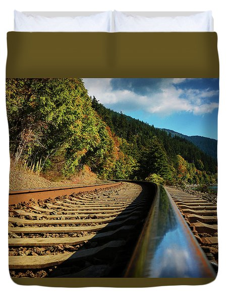 Down The Chukanut Line Duvet Cover
