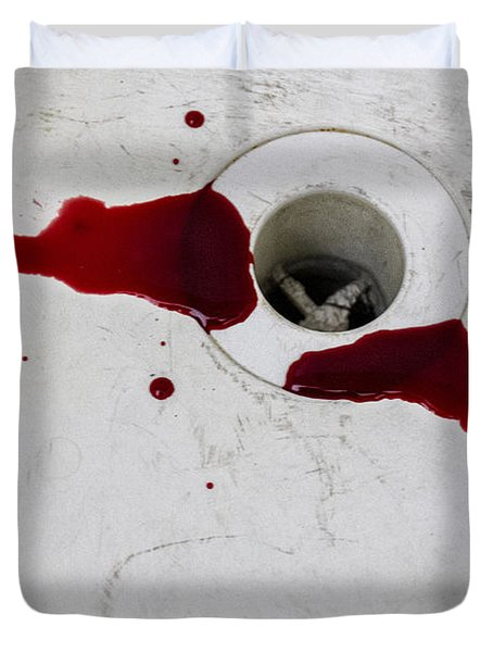 Down The Drain Duvet Cover by Margie Hurwich