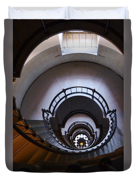 Down The  Lighthouse Stairs Duvet Cover