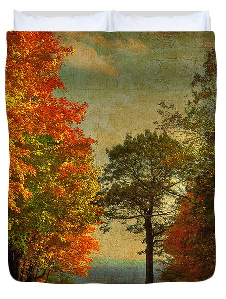 Down The Mountain Duvet Cover by Lois Bryan