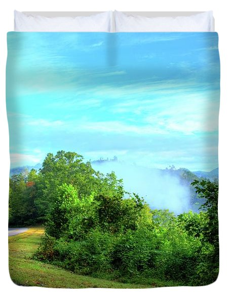 Down The Mountain Duvet Cover